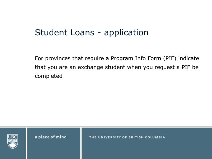 Student Loans - application