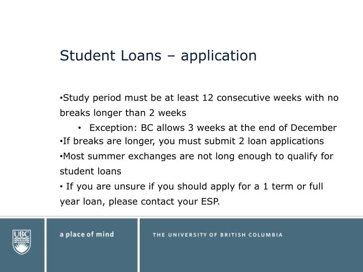 Student Loans – application