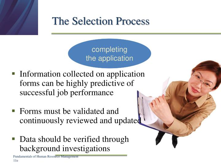 The Selection Process