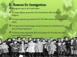 8 reasons for immigration