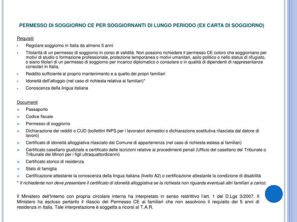 PPT - IMMIGRAZIONE CORSO DI FORMAZIONE PER OPERATORI ITAL ...