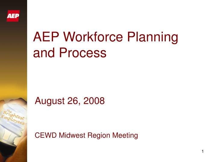 Aep workforce planning and process