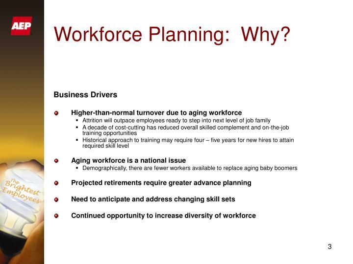 Workforce planning why