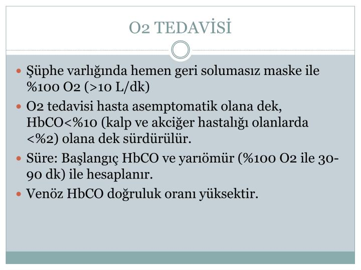 O2 TEDAVİSİ