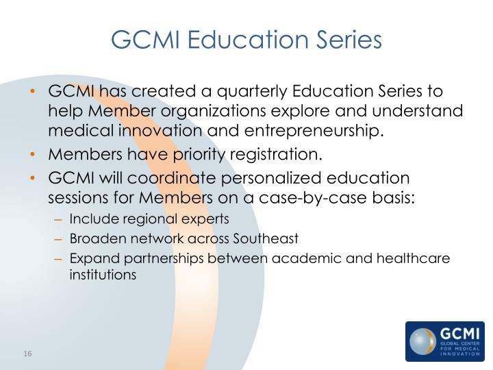 GCMI Education Series