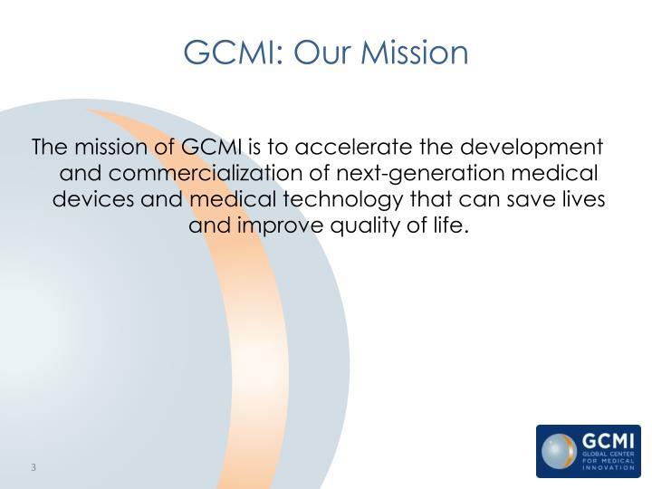 Gcmi our mission