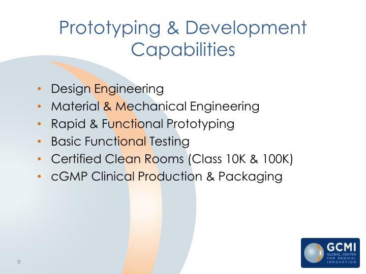 Prototyping & Development Capabilities