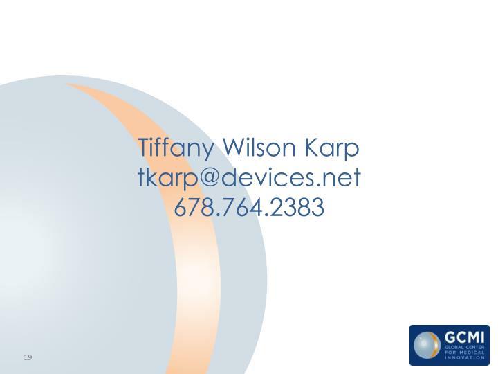 Tiffany Wilson Karp