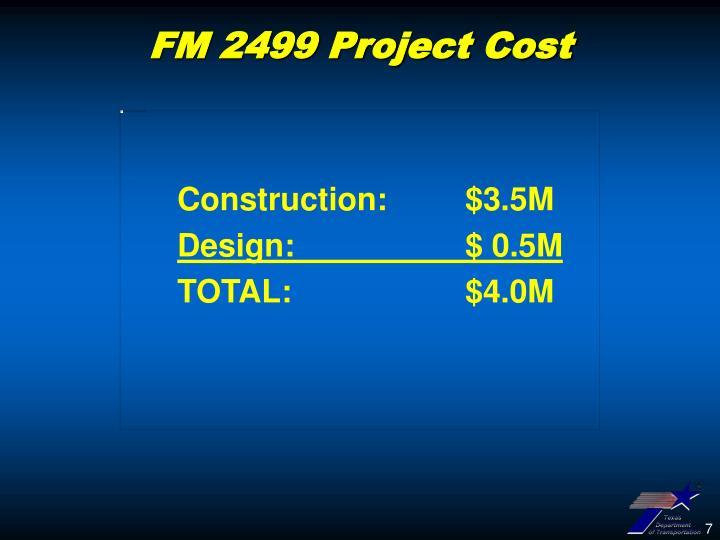 Construction: $3.5M