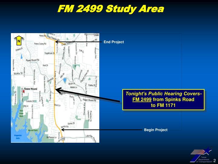FM 2499 Study Area