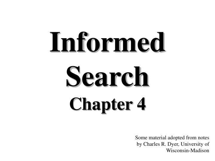Informed search chapter 4