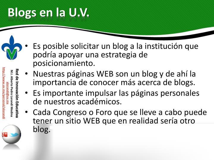 Blogs en la U.V.