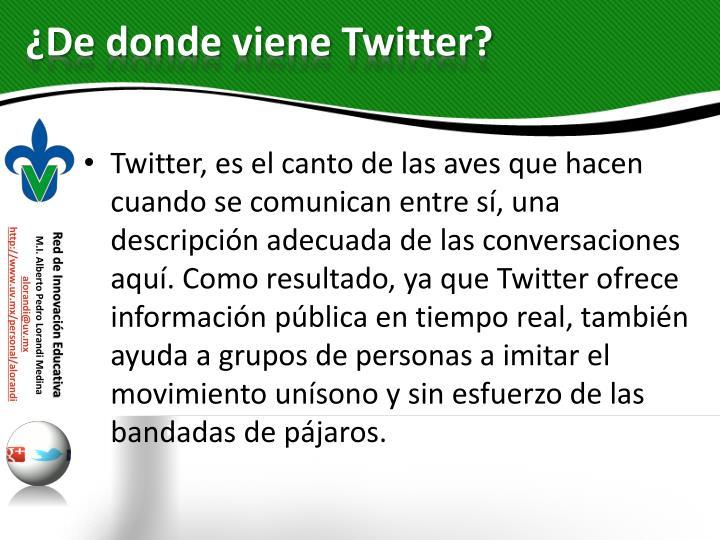 ¿De donde viene Twitter?