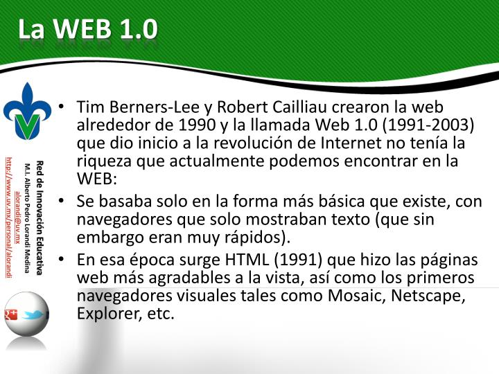 La web 1 0