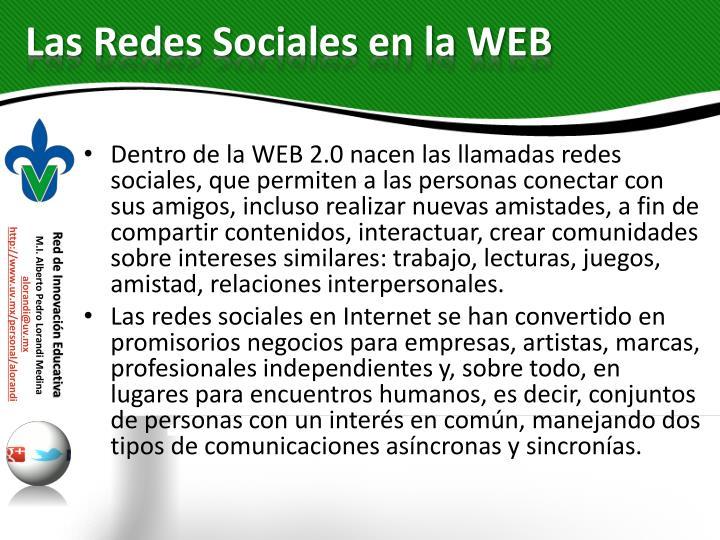 Las Redes Sociales en la WEB