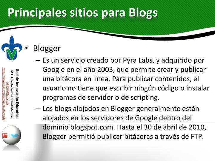 Principales sitios para Blogs