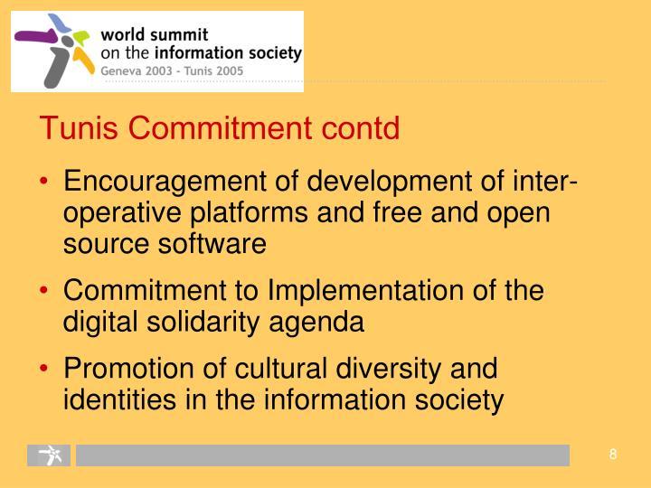 Tunis Commitment contd