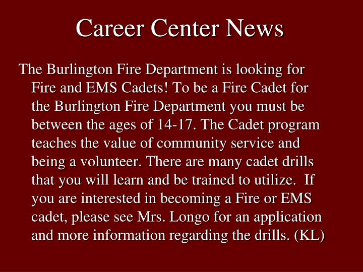 Career center news