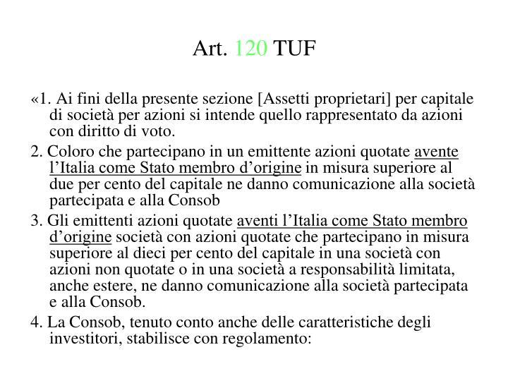 Art 120 tuf