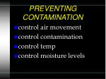 preventing contamination