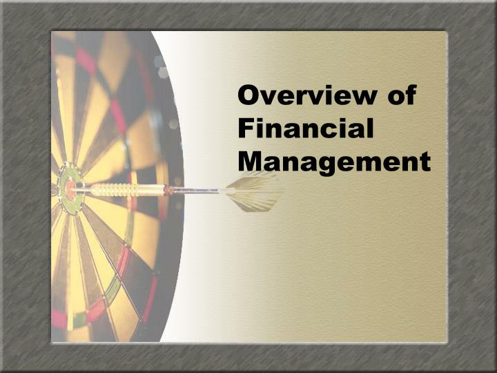 overview of financial management n.