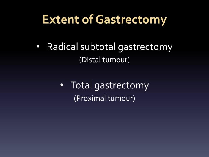Extent of Gastrectomy