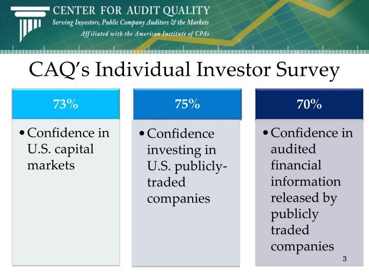 Caq s individual investor survey