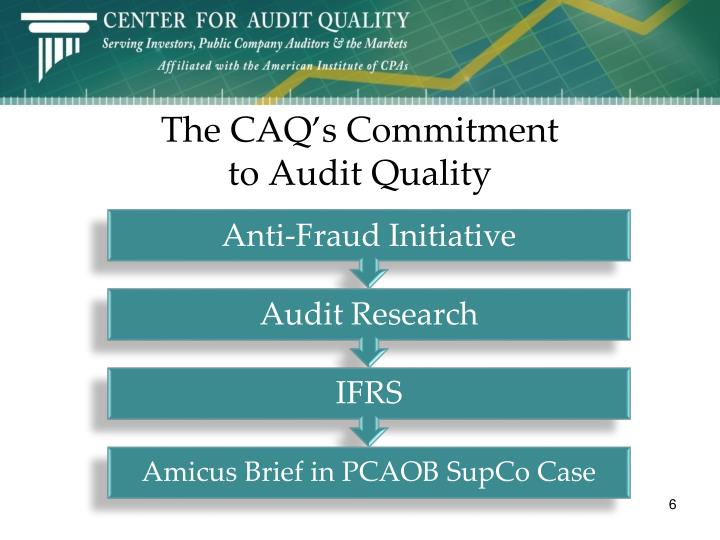The CAQ's Commitment