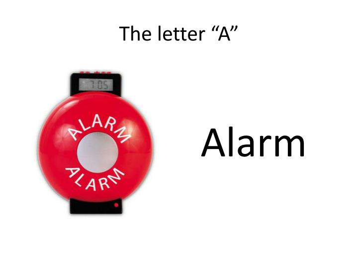"The letter ""A"""