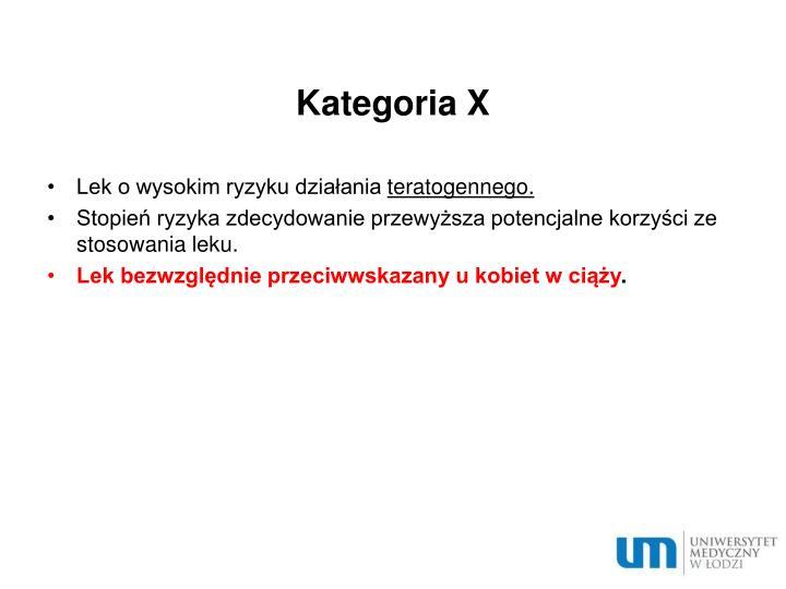 Kategoria X
