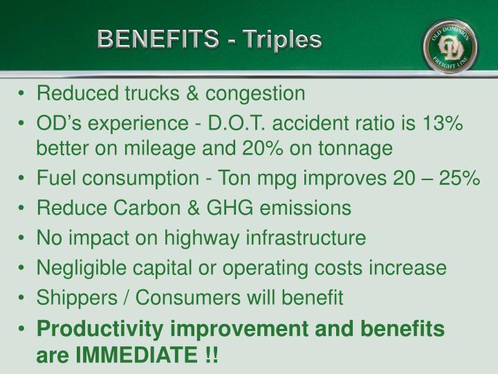 BENEFITS - Triples