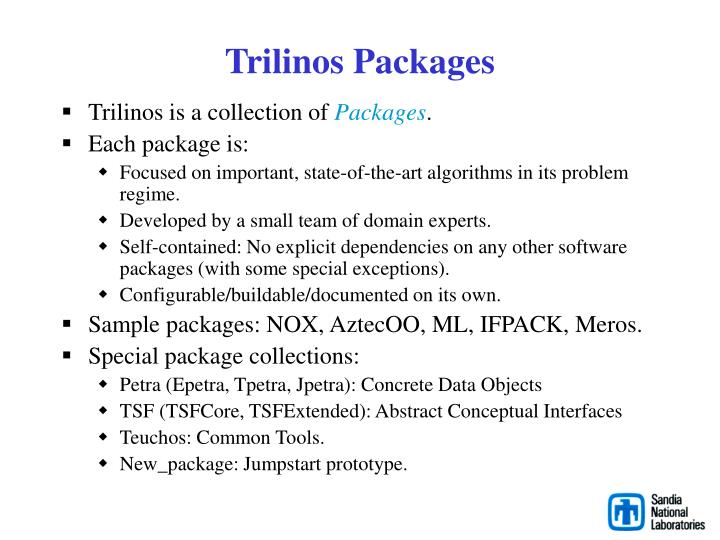 Trilinos Packages
