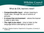 what do eal learners need1