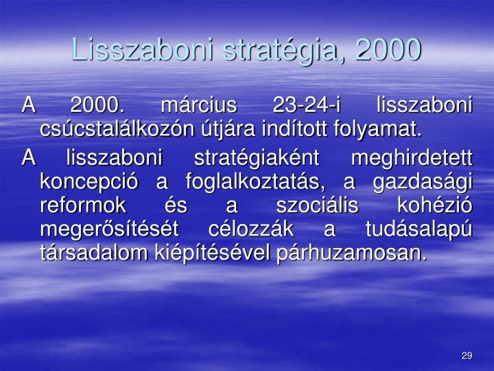 Lisszaboni stratégia, 2000