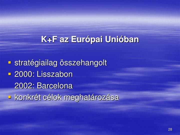 K+F az Európai Unióban