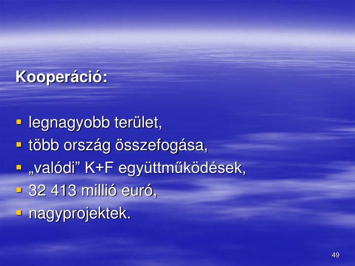 Kooperáció: