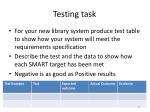 testing task