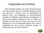 integridade dos profetas1