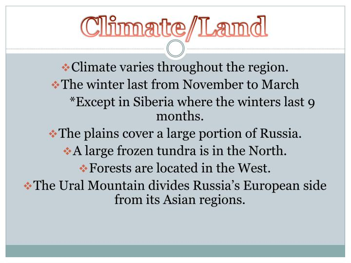 Climate/Land