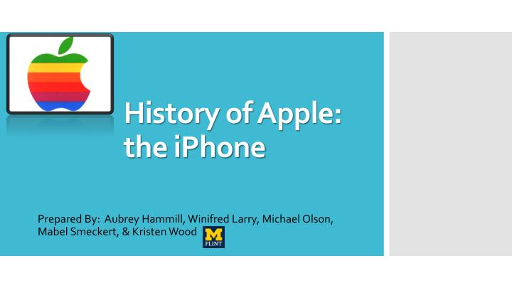 history of apple the iphone n.