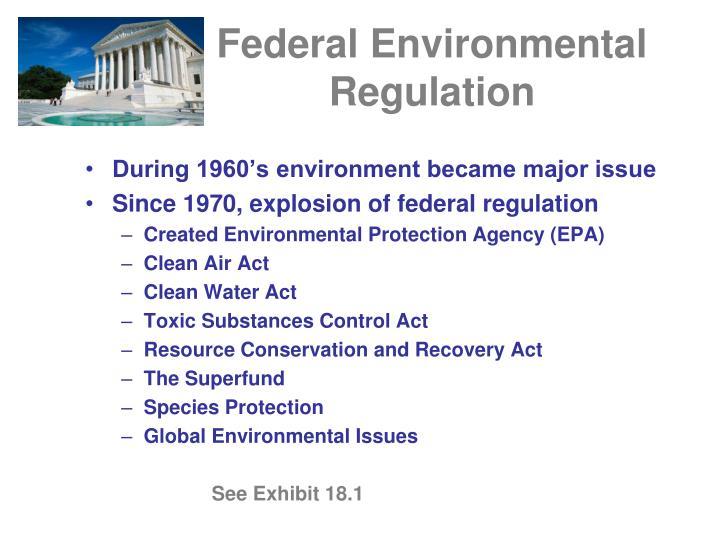 Federal environmental regulation