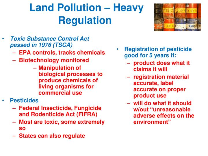 Toxic Substance Control Act passed in 1976 (TSCA)