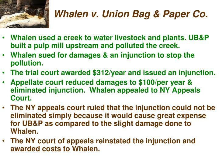 Whalen v. Union Bag & Paper Co.