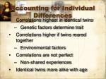 accounting for individual differences