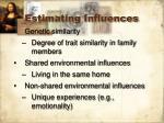 estimating influences