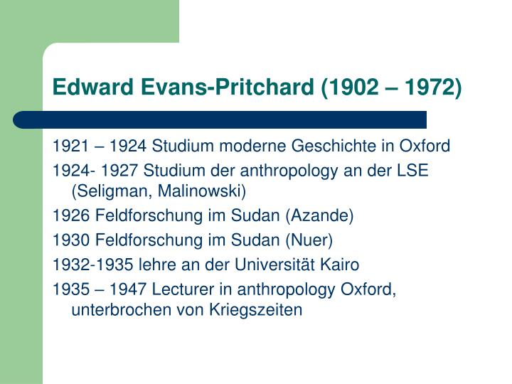 essays in social anthropology evans-pritchard Read the full-text online edition of social anthropology and other essays by e e evans-pritchard social anthropology is still little more than a name.