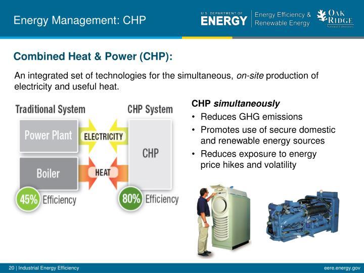 Energy Management: CHP