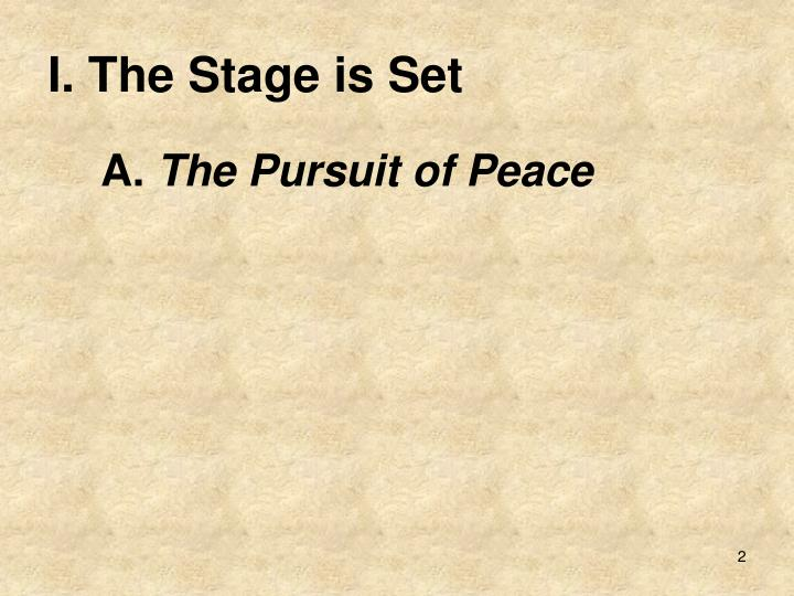 i the stage is set n.