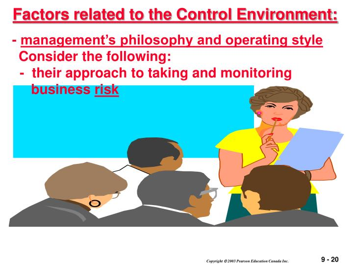 Factors related to the Control Environment: