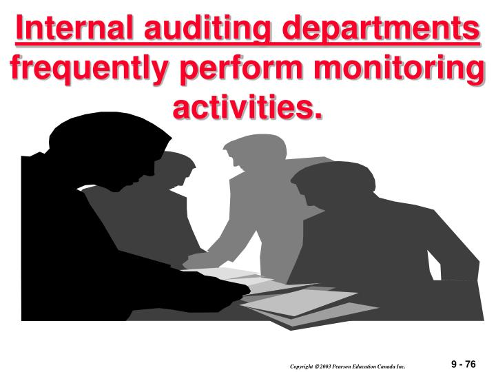 Internal auditing departments